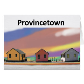 3 cottages ptown white stationery note card