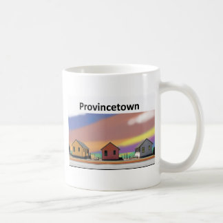 3 cottages ptown white classic white coffee mug