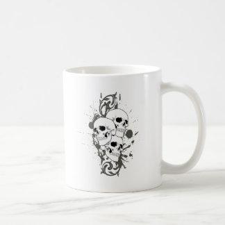 3 cráneos tazas de café