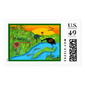 3 Cranes Postage
