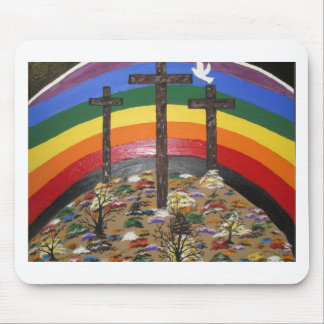 3 Crosses and A Rainbow Mouse Pad