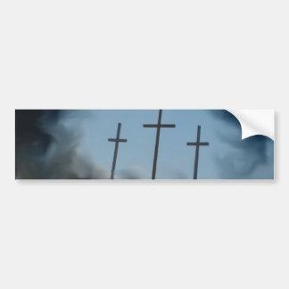 3 Crosses Bumper Sticker