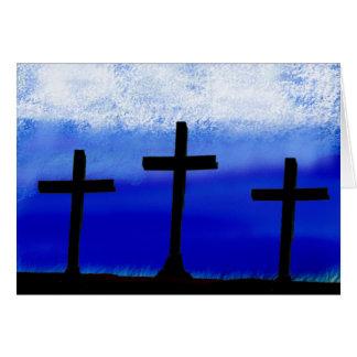 3 Crosses Card