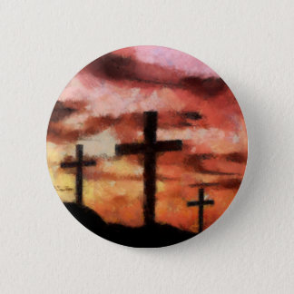3 crosses painting button