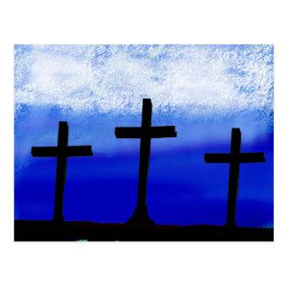 3 Crosses Postcard