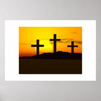 3 crosses posters