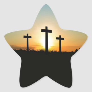 3 Crosses Star Sticker