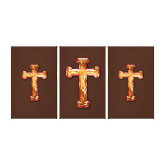 3 Crosses Stretched Canvas Prints