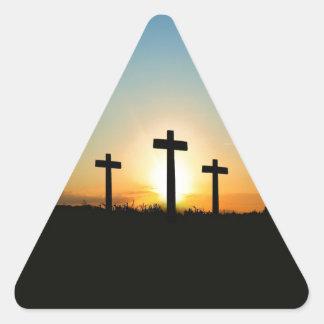 3 Crosses Triangle Sticker