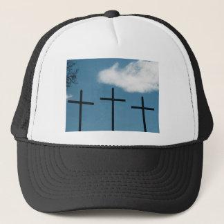 3 Crosses Trucker Hat