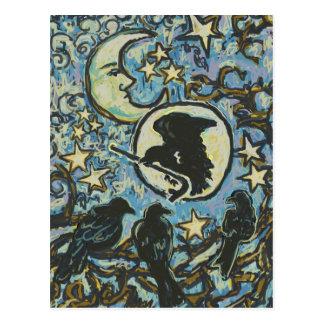 3 Crows at Dusk, Art Postcard for Crowbar
