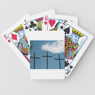 3 cruces baraja cartas de poker
