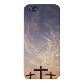 3 cruces en el Calvary iPhone 5 Cárcasas