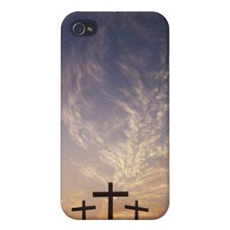 3 cruces en el Calvary iPhone 4 Protectores