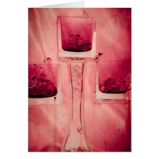 """""""3 cubes in red"""" collection original photography b card"""