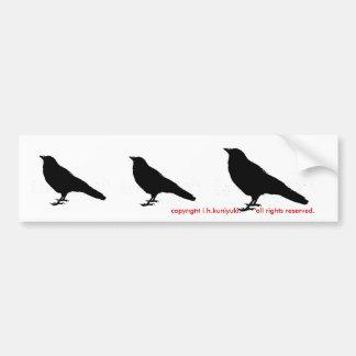 3 cuervos pegatina para auto