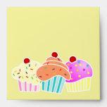 3 Cupcakes Envelope
