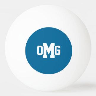 3 Custom Initials Bold Monogram Ping Pong Ball