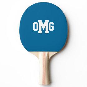 3 Custom Initials Bold Monogram Ping-Pong Paddle