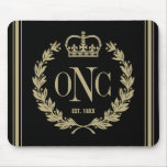 3 Custom Initials Monogrammed Logo Mouse Pad