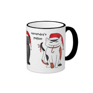 3 cute and sassy Christmas kitties Coffee Mug