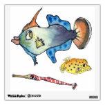 3 Cute Cartoon Fish Wall Decal