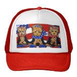 3 Cute Yorkies Cap Trucker Hat