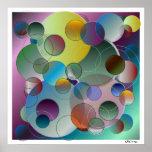 3-D Abstract Circles Art Poster