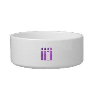 """3-D"" Advent Wreath Candles Bowl"