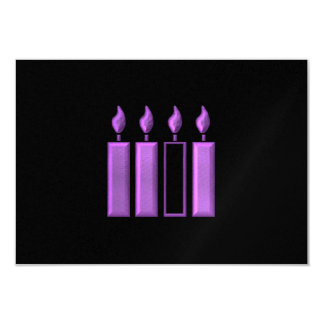 """3-D"" Advent Wreath Candles Card"