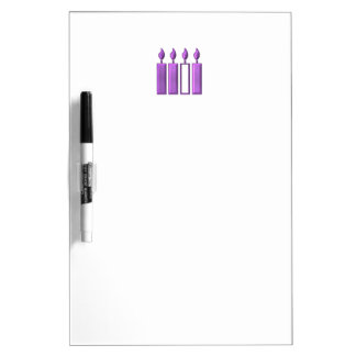 """3-D"" Advent Wreath Candles Dry-Erase Board"