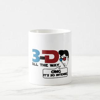 3-d all the way retro glasses coffee mug