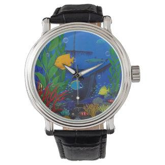 3-D Aquarium Men's watch
