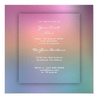 3-D Blue Pink Ombre Tiffany Pastel Lemon Green Card
