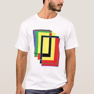 3-D Colored Rectangles T-Shirt