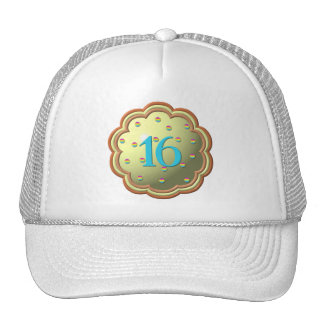 """""""3-D"""" Cupcake w/sprinkles and the # 16 Trucker Hat"""