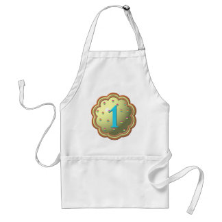 """""""3-D"""" Cupcake w/sprinkles and the # 1 Adult Apron"""