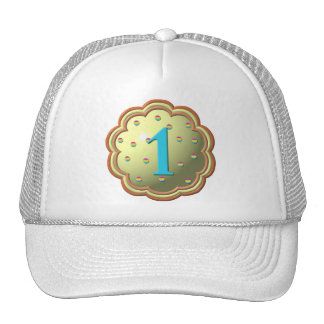 """""""3-D"""" Cupcake w/sprinkles and the # 1 Trucker Hat"""