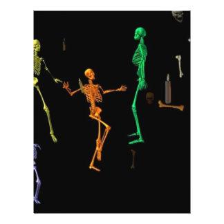 """3-D Dancing Skeletons 8.5"""" X 11"""" Flyer"""
