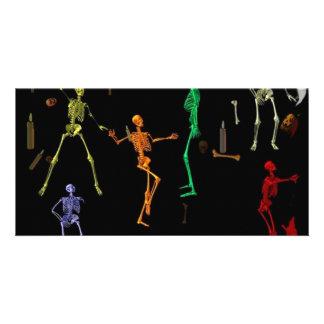 3-D Dancing Skeletons Card