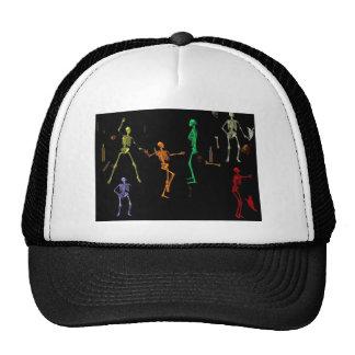 3-D Dancing Skeletons Mesh Hats