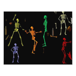 3-D Dancing Skeletons Personalized Invite