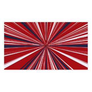 3-D explosion in Patriotic Colors Business Card