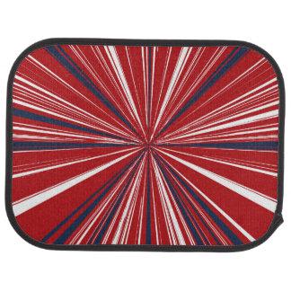 3-D explosion in Patriotic Colors Car Floor Mat