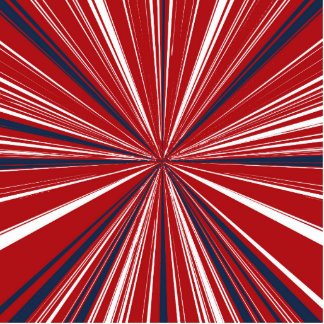 3-D explosion in Patriotic Colors Cutout