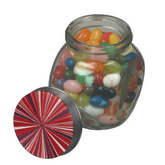 3-D explosion in Patriotic Colors Glass Candy Jars