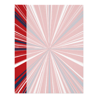 3-D explosion in Patriotic Colors Letterhead