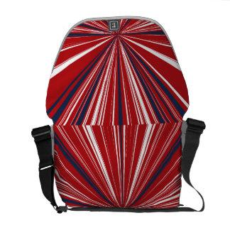 3-D explosion in Patriotic Colors Messenger Bag