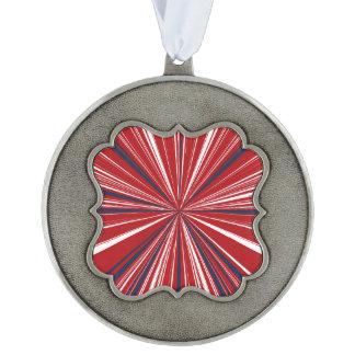 3-D explosion in Patriotic Colors Ornament