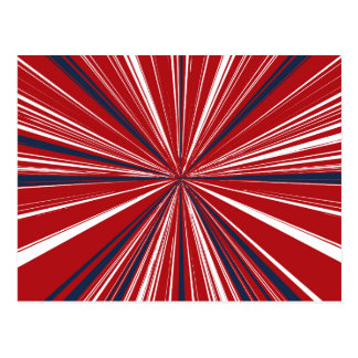 3-D explosion in Patriotic Colors Postcard